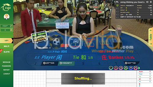tampilan panel bet casino gd88