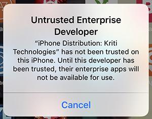 untrusted app