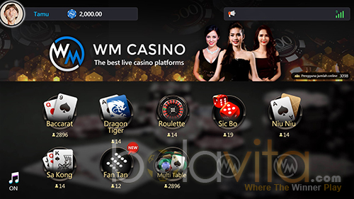wm casino pilih games
