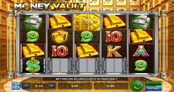 tampilan depan money vault