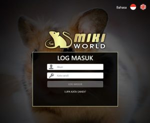 tampilan login mikiworld